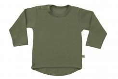 Wooden Buttens t-shirt lm rond army