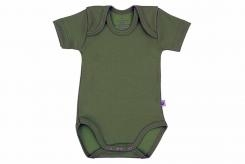 Wooden Buttons Romper km Army