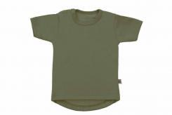 Wooden Buttens t-shirt km rond army