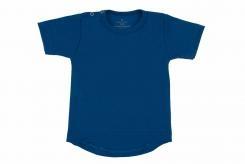 Wooden Buttens t-shirt km rond kobalt