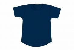 Wooden Buttons t-shirt km marine rond