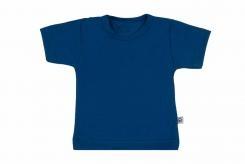 Wooden Buttens t-shirt km kobalt