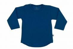 Wooden Buttons  t-shirt lm rond kobalt