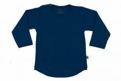 Wooden Buttons t-shirt rond lm zwart