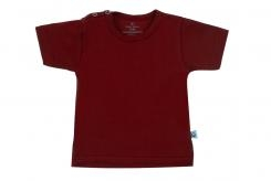 Wooden Buttens t-shirt km bordeaux