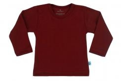 Wooden Buttens t-shirt lm bordeaux