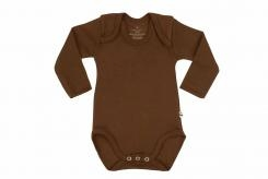 Wooden Buttons romper lm choco