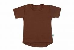 Wooden Buttens t-shirt km choco rond