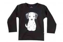 Wooden Buttens T shirt lange mouw Zwart dalmatiër