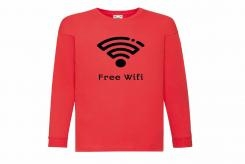 Discharge T-shirt lm rood free wifi