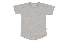 Wooden Buttens t-shirt km rond grijs melee