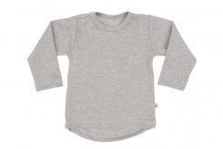 Wooden Buttons t-shirt rond lm grijs melee