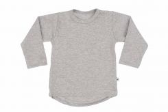Wooden Buttens t-shirt lm rond grijs