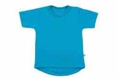 Wooden Buttons t-shirt km aqua rond