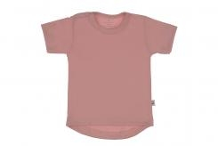 Wooden Buttens t-shirt rond km oude roze