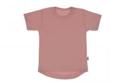 Wooden Buttons t-shirt km rond old roze