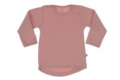 Wooden Buttons t-shirt rond km old roze