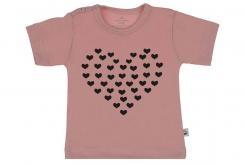 Wooden Buttons t shirt km Hartje van Hartjes old roze