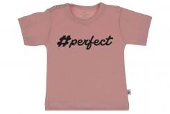 Wooden Buttons t shirt km Perfect old roze