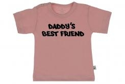 Wooden Buttons t shirt lm Daddy s best friend old roze