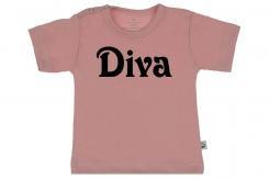 Wooden Buttons t shirt km Diva old roze