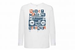 Discharge T-shirt lm wit music