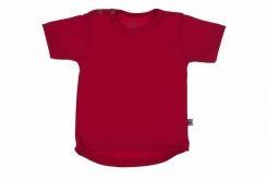 Wooden Buttens t-shirt km rond rood