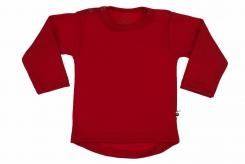 Wooden Buttens t-shirt lm rond rood