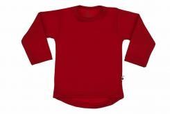 Wooden Buttens t-shirt lm rond rood