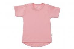 Wooden Buttens t-shirt rond km roze