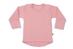 Wooden Buttens t-shirt lm rond roze