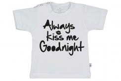 Wooden Buttons t-shirt km always Kiss me Goodnight wit
