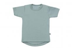Wooden Buttons t-shirt km old green rond