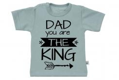 Wooden Buttons t-shirt km Dad you are the king oldgreen