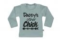 Wooden Buttens t-shirt lm Daddy s other Chick old green