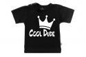 Wooden Buttons t-shirt lm Cool Dude old zwart