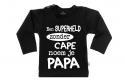 Wooden Buttons t-shirt lm Een super held zonder cape noem je Papa zwart