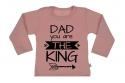 Wooden Buttons t-shirt lm Dad you are the King old roze