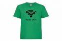 Discharge T-shirt km groen free wifi