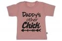 Wooden Buttons t shirt km Daddy s other Chick old roze